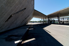 _DSC3932 (durr-architect) Tags: park city light france car architecture concrete space strasbourg service rough nord beton tramline terminus brut zaha hadid sichtbeton hoenheim