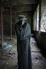 Plague Doctor Colour (Doomsday Graphix) Tags: pictures urban fish eye art heritage history abandoned rural underground lens landscape photography design photo graphics nikon photoshoot shot angle mask graphic decay exploring explorer wide structures sigma gas fisheye explore crew doctor historical gasmask local macabre disturbed doomsday exploration interest decayed plague ue urbex rossendale samyang rurex d7100 crewshot