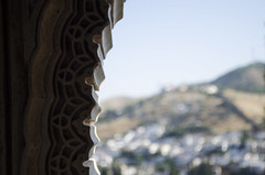 Mysticy window, Alhambra, Granada, Spain
