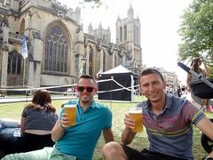Biertje met Simon bij het Harbour Festival!