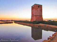 The Old Tower (Francesco Impellizzeri) Tags: trapani sicilia sunset water reflections tower
