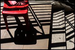 Red Chair & Black Shadows (Armin Fuchs) Tags: arminfuchs bangkok thailand red chair shadows stairs sathorn