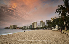 Waikiki Beach - O'hau - Hawaii - USA (paulbartle - Shot2frame Photography) Tags: beach sunset sand waikiki ohau hawaii unitedstatesofamerica palmtrees waikikibeach honolulu shot2frame shot2framephotography