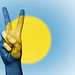 Peace Symbol with National Flag of Palau