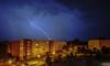 Blitzeinschlag Greifswald (Michael B.HGW) Tags: greifswald blitz einschlag haus building wbs 70 donner gewitter dunkel hgw flash