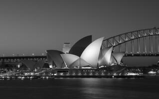 sydney opera house & half bridge