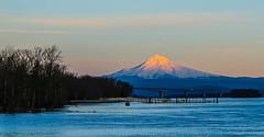 Mt Hood Sunset at Columbia River - Day 78 / 365 (Wayne~Chadwick) Tags:
