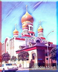 (sftrajan) Tags: gearyboulevard russianorthodox church edited sanfrancisco therichmond richmonddistrict california 2017 cameraphone holyvirginrussianorthodoxcathedral outerrichmond