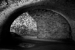 St. David's Old Cathedral (@AnnerleyJphotos) Tags: arch archway blackandwhite bnw britain cathedral chiarascuro cloisters crypt cymru dark david gb mono pembrokeshire saint sirbenfro stdavids uk underground wales welsh
