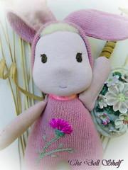 Pink Easter Bunny (tatjanapetrov) Tags: waldorftoy stuffedtoy easterbunny pinktoy