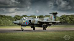 """ Bruntingthorpe Bucc "" (simonjohnsonphotography.uk) Tags: raf aircraft nikon sjaviationnet aviation panning jet 16squadron bruntingthorpe xw544 airshow raflossiemouth blackburnbuccaneer"