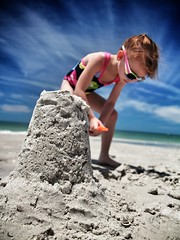 Sand Castles Among Us (crashmattb) Tags: beach kid sand tampabay florida daughter may explore abs madeirabeach 2013 canont3i uploaded:by=flickrmobile flickriosapp:filter=nofilter abigailjaclyn