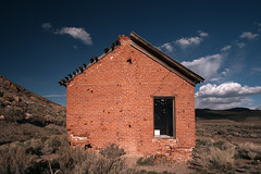 Abandoned House (Curtis Gregory Perry) Tags: house brick abandoned town cabin nikon nevada ghost union fav10 d800e