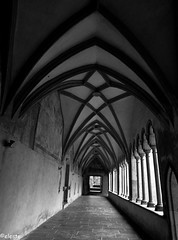 The Abbey (ako_ni) Tags: bw building church lights perspective bolzano spotmetering oldarchitecture northernitaly canon450d tokina1116mm dominicanabbeyinbolzano
