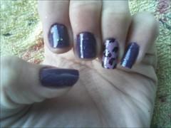 Nails (Gaby Gruber) Tags: purple nails oncinha animalprint