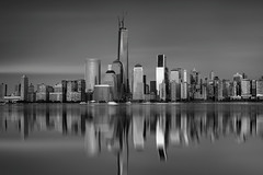 Double Vision (ADW44) Tags: nyc newyork reflection skyline skyscraper photoshop jerseycity downtown manhattan worldtradecenter thebigapple building1