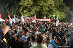 (Eleanna Kounoupa (Melissa)) Tags: street flag athens greece races demonstrations protests ert