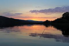Sunset at Loch Ken (Tom Patterson) Tags: uk blue sunset summer sky lake water reflections dark stars scotland cloudy space satellite sunny clear blueskies loch dumfries galloway darkskies clearskies lochken gallowayactivitycentre