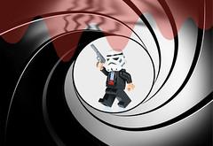 The Name's Bond….. ([inFocus]) Tags: macro canon actionfigure miniature starwars gun lego action creative 100mm spy stormtrooper imagination minifig tabletop 007 jamesbond minifigure legoman minifigures 5dmkiii