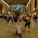 Mr. Wuf enjoys a stroll in Grand Central Station. Photo by Chuck Liddy.