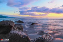 End of the rainy season (Masahiko Futami) Tags: ocean sea sky cloud sun nature rock japan sunrise canon coast photo asia shoot photographer wave photograph 日本 雲 kanagawa 太陽 海 空 神奈川県 朝日 eos5dmarkiii