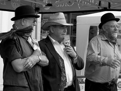 If I Were Not Upon This Stage.... (Fire*Sprite*75) Tags: people blackandwhite men monochrome photography cornwall market jobs victorian strangers scene launceston