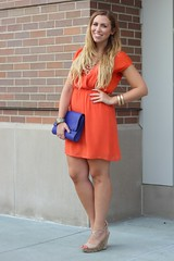 Living After Midnite: Orange is the New Black: Jackie Giardina (jackiegiardina) Tags: blue orange moon fashion outfit mark south under royal style blonde hm smu livingaftermidnite oasap jackiegiardina