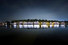 Boathouse Row, Philadelphia, Pa (jmdelacy) Tags: reflection philadelphia water night landscape lights evening still pennsylvania rowing boathouse