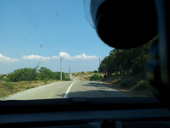 Bozcaada on the road (CyberMacs) Tags: road car turkey way island photo other driving trkiye places onroad canakkale bozcaada tenedos anakkale