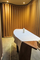 In the Little Room (Jocey K) Tags: newzealand christchurch architecture table lights candle cathedral cardboard cbd alter cardboardcathedral