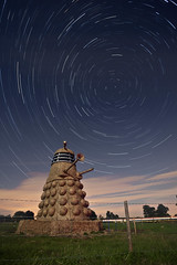 EXTERMINATE! ([Nocturne]) Tags: longexposure light lightpainting lowlight cheshire who dr fullmoon chester doctorwho icecream shutter dalek hay nocturne northstar lpp darlick whovians snugburys haysculpture wwwnoctographycouk starstartrails