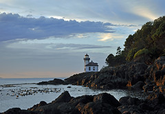 Lime Kiln Point Lighthouse (picaday) Tags: ocean lighthouse shore sanjuanisland salishsea limekilnlighthouse