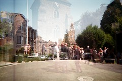 Church town (Jim Davies) Tags: california film experimental alt doubleexposure konica analogue vivitar doubles ic101 veebotique