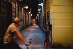 Nitka (KirillSokolov) Tags: city portrait girl night spain bcn eu fujifilm fujinon портрет 3514 ночь город девушка xe1 испания барселона sokolovkirill