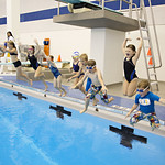 """<b>Aquatic Center Dedication of Service_100413_0356</b><br/> Photo by Zachary S. Stottler Luther College '15  The Miller grandchildren took a dip in the new pool after the dedication service.<a href=""""http://farm4.static.flickr.com/3679/10095576394_31aa10d45d_o.jpg"""" title=""""High res"""">∝</a>"""