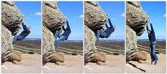 And 'es off.. ;) (Mike-Lee) Tags: mike rock collage jill picasa boulder dorset agglestone oct2013