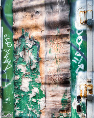 Some Doors Are Made To Stay Shut (Mike Wyner) Tags: door green nikon peeling paint lock ruin portal d800