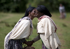 Women Kissing, Ethiopia (Eric Lafforgue) Tags: africa people woman colour horizontal female outside outdoors person togetherness hug kiss femme together ethiopia bandana ensemble personne humanbeing headband tribo afrique handholding dehors eastafrica thiopien etiopia abyssinia maintenant ethiopie etiopa exterieur bise inprofile deprofil waistup abyssinie  vueexterieure coloredpicture etiopija ethiopi  photocouleur etiopien etipia  etiyopya  afriquedelest alataille etrehumain         colouredpicture cadragealataille ethiopianscarf ethiopia4901