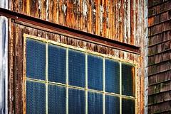 Door Glass (Richard Adams Photography) Tags: door wood ontario canada fall airplane photo airport nikon adams wwii richard weathered hanger picton hangers 2013 cfbpicton richardadams d7100 pictonairport camppicton