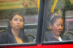 `973 (roll the dice) Tags: uk travel girls red urban music bus london art classic wet westminster rain weather asian women couple traffic natural candid transport streetphotography stranger passengers unknown brunette wisdom w1 earphones unaware londonist