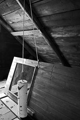 Boobytrap (Wirdlig) Tags: abandoned exploring urbex rurex house home farm farmhouse attic historic trap door newengland newhampshire contrast lighting abstract photography creepy rope electric