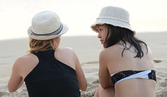 Of Interest (Ctuna8162) Tags: beach hawaii evening waikiki oahu hats honolulu