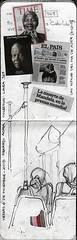 Noticias del da de ayer (edgardo rosales) Tags: pencil notebook sketch newspaper drawing lapiz noticias regreso 169 dibujo linea mandela diarios libretadeapuntes