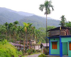 Tourquoise and Blue (oawisbrill) Tags: blue india mountains architecture buildings village himalaya bengal tourquoise gurkha