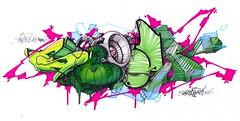 1028 sboar in the mix (spoare153) Tags: new colors paper penis graffiti design sketch back artwork tank character dick style grafik cock beat hiphop piece bam blackbook sbr 3dstyle spoare spoare153 153design zboar