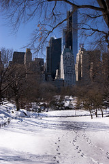 FootprintsEssexHouse (jimbo_square_pants) Tags: nyc snow newyork centralpark footprints essexhouse sonyalpha