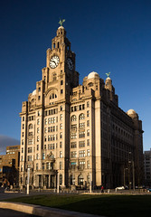Royal Liver Buildings (flash of light) Tags: birds liver