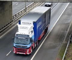 L037 - T21 WHM (Cammies Transport Photography) Tags: truck volvo edinburgh malcolm lorry brookfield fm newbridge flyover wh m9 of l037 t21whm