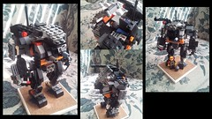 Fully Armored  Mech Suit (Tian1354) Tags: collage lego hard suit weapon mecha mech hardsuit