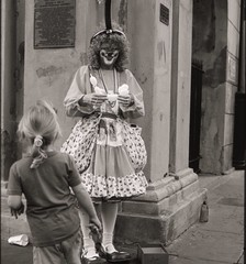 Scary clown, New Orleans